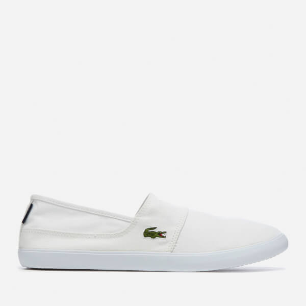 Lacoste Men's Marice Bl 2 Canvas Slip-On Pumps - White