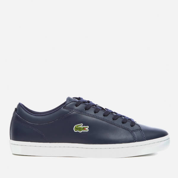 Lacoste Men's Straightset BL 1 Leather Cupsole Trainers - Navy