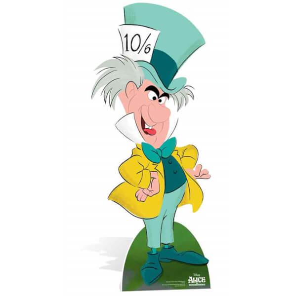 Silhouette Découpée Alice au pays des merveilles Chapelier Fou Disney