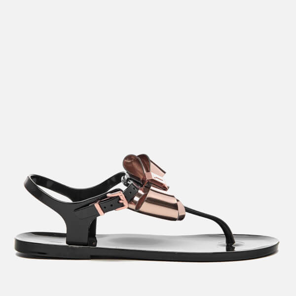 Ted Baker Women S Ainda Ankle Strap Bow Sandals Black