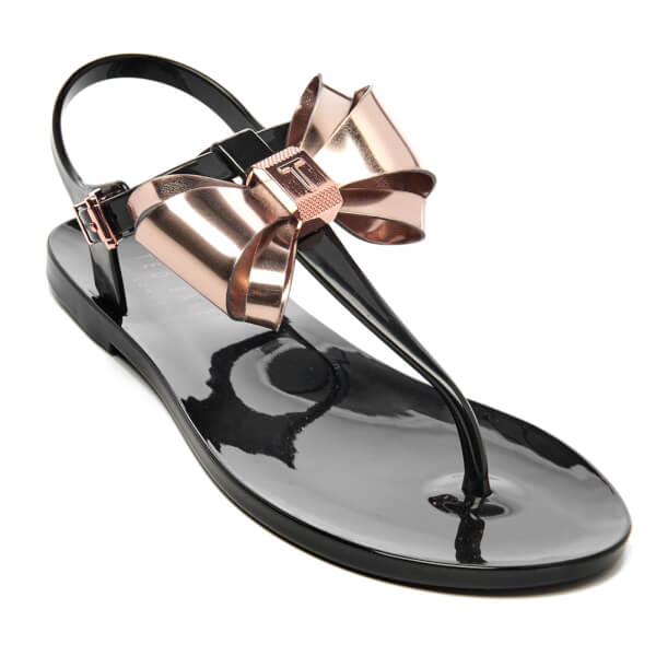 75c0e4eb1 Ted Baker Women s Ainda Ankle Strap Bow Sandals - Black Rose Gold  Image 3