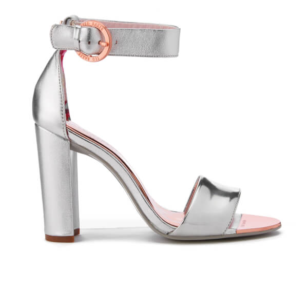 Ted Baker Women's Secoa Leather Heeled Sandals - Silver