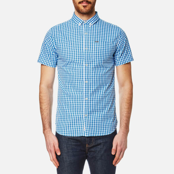 Superdry Men's Ultra Lite Oxford Short Sleeve Shirt - Premium Oxford Blue
