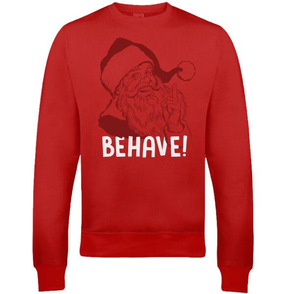 Behave Christmas Sweatshirt - Red