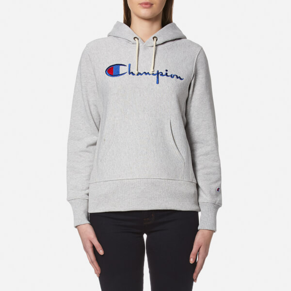 Champion Women s Hooded Sweatshirt - Grey 84423f9d0f