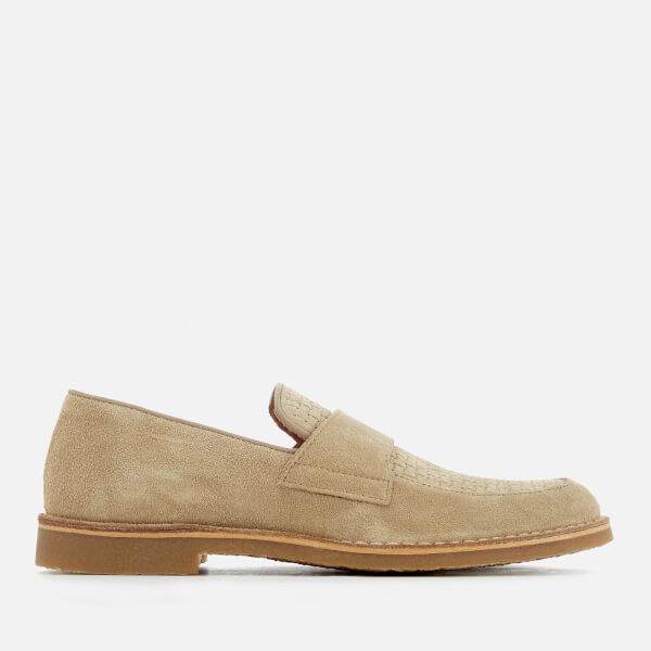 Selected Homme Men's Royce Suede Penny Loafers - Oyster Grey