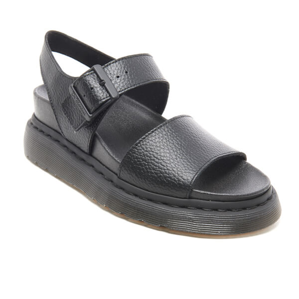 Dr. Martens Women s Fusion Romi Y Strap Sandals - Black Pebble Leather   Image 2 a29314be5cac