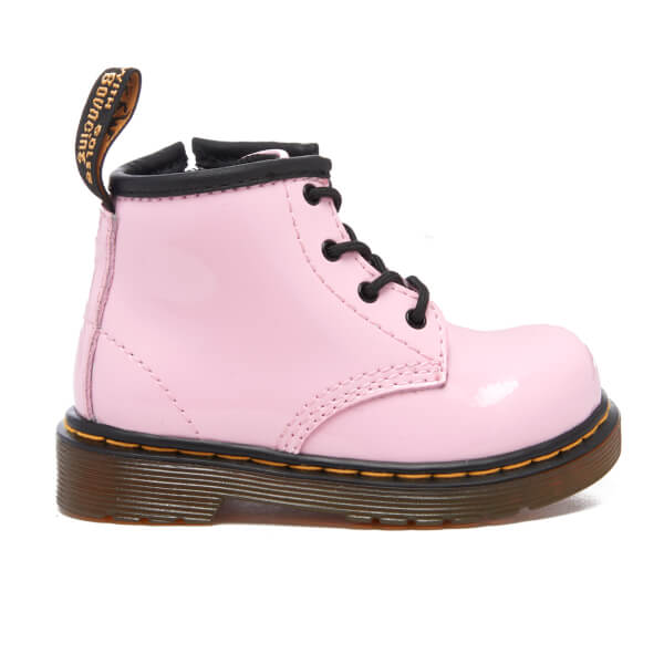 f05e1cf644f4f0 Dr. Martens Toddlers  Brooklee B Patent Lamper Lace Boots - Baby Pink  Image