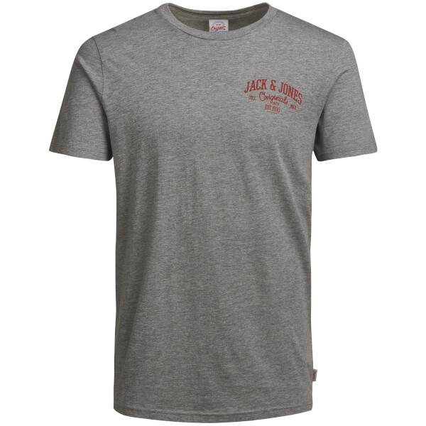 T-Shirt Homme Originals Howdy Jack & Jones -Gris