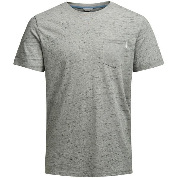 T-Shirt Homme Core Inject Jack & Jones - Gris Chiné