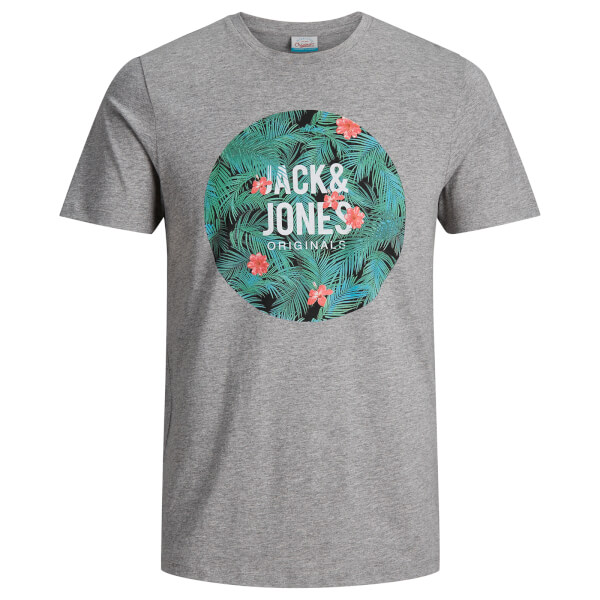 Jack & Jones Men's Originals Newport T-Shirt - Grey