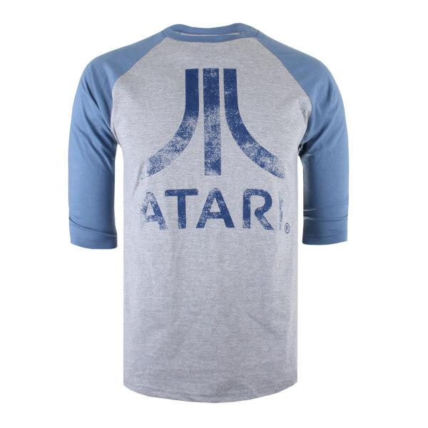 Camiseta manga 3/4 Atari Logo - Hombre - Gris/azul