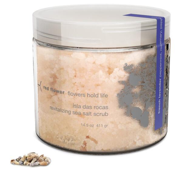 Red Flower French Lavender Isla Das Rocas Revitalizing Sea Salt Scrub