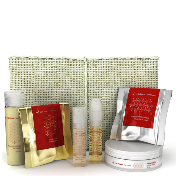 Red Flower Hammam Travel Set