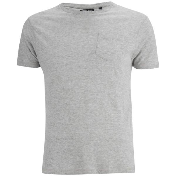 T-Shirt Homme Arkham Brave Soul -Gris Chiné