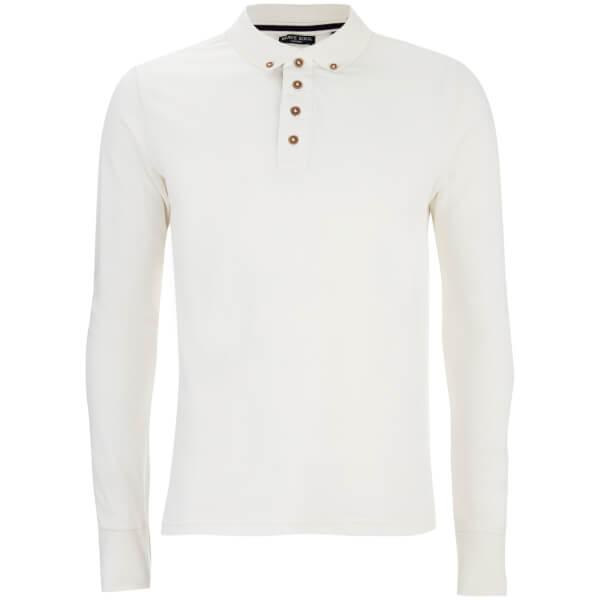 Polo à Manches Longues Lincoln - Homme Threadbare - Blanc