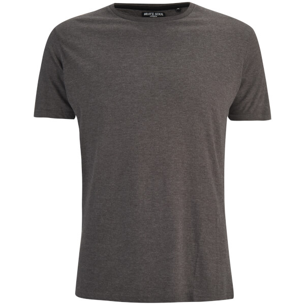 Brave Soul Men's Grail T-Shirt - Charcoal Marl