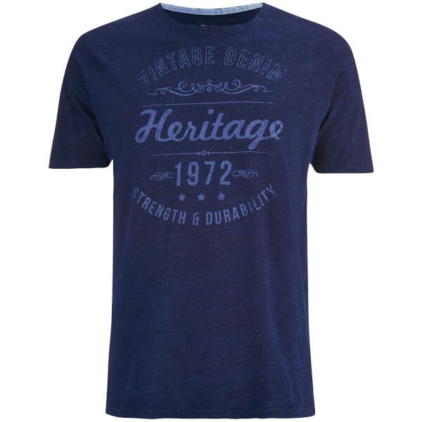 Brave Soul Men's Durable Print T-Shirt - Indigo