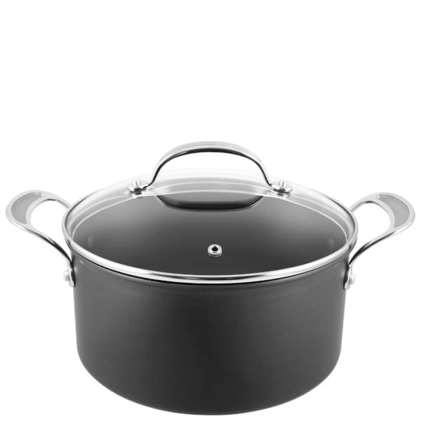 jamie oliver by tefal h9024644 hard anodised non stick stewpot with lid 24cm iwoot. Black Bedroom Furniture Sets. Home Design Ideas
