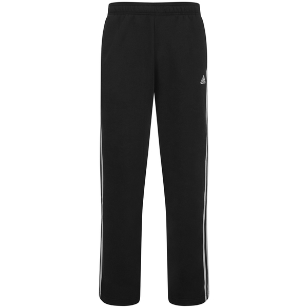 adidas Men's Essential 3 Stripe Fleece Sweatpants - Black