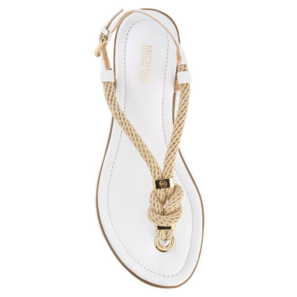 1e825ac6a183 MICHAEL MICHAEL KORS Women s Holly Rope Strap Sandals - Optic White  Image 3