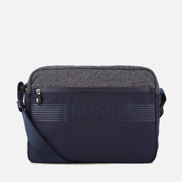 BOSS Green Men's Pixel Messenger Bag - Navy