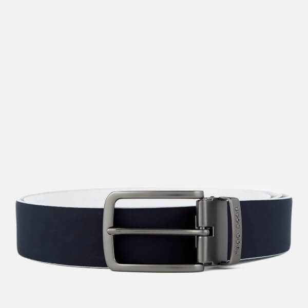 BOSS Green Men's Tobi Reversible Belt - Navy