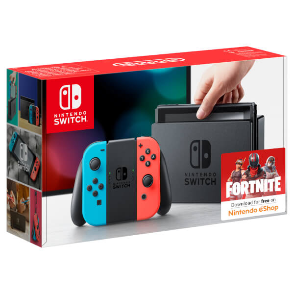 Nintendo Switch with Neon Blue / Neon Red Joy-Con Controllers