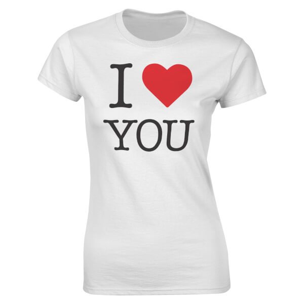 T-Shirt Femme I <3 You Valentines -Blanc