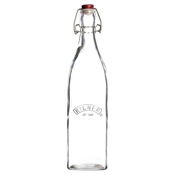 Kilner Clip Top Square Bottle 1L