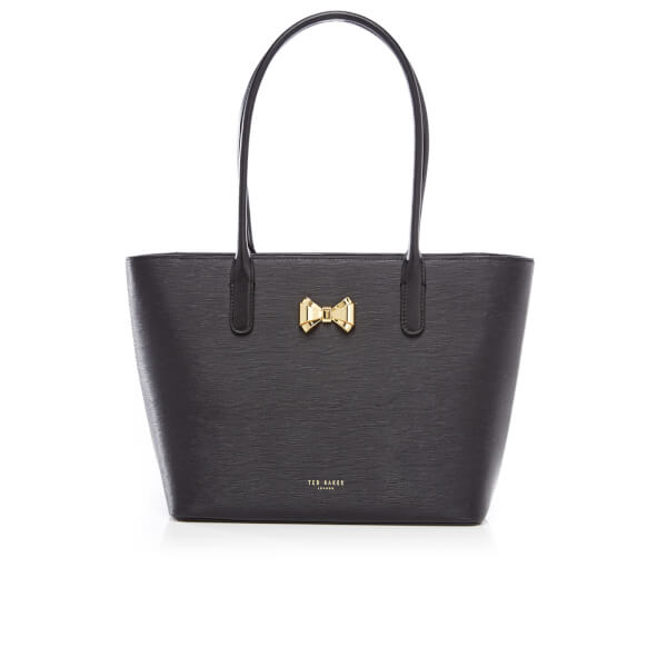 Ted Baker Women's Taleen Curved Bow Small Zip Shopper Bag - Black