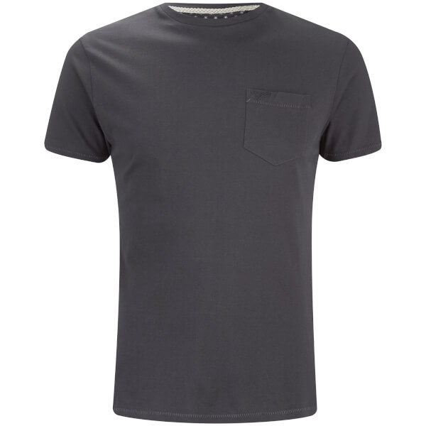 Threadbare Men's Jack Crew Neck Pocket T-Shirt - Charcoal