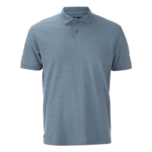 Threadbare Men's Stockton Textured Polo Shirt - Denim