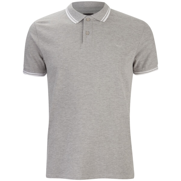 Polo Homme Gilroy Threadbare - Gris Chiné