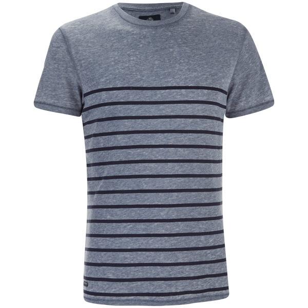 T-Shirt Homme Matthews Col Rond Threadbare -Bleu
