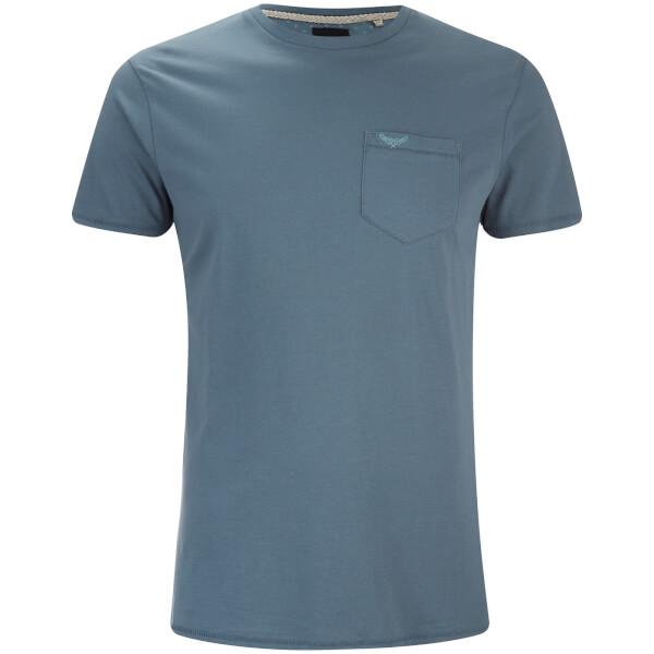 T-Shirt Homme Jack Threadbare Col Rond Poche -Denim
