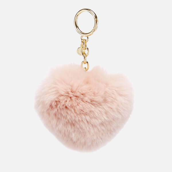 MICHAEL MICHAEL KORS Women's Pom Pom Heart Key Ring - Soft Pink