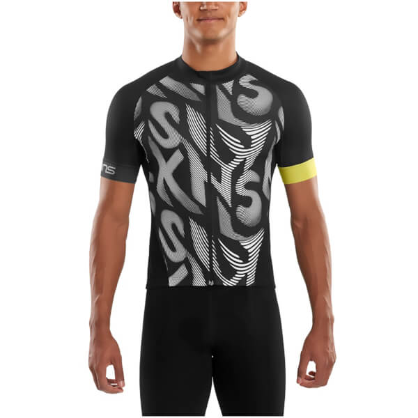 1395a9ca3 Skins Cycle Men s Classic Short Sleeve Jersey - Leviathan Black  Image 1