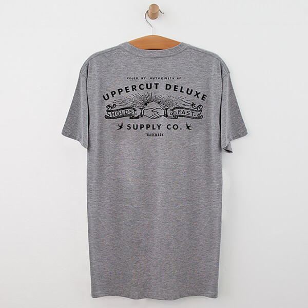 e06f3809344 Uppercut Union T-Shirt - Grey Black Print