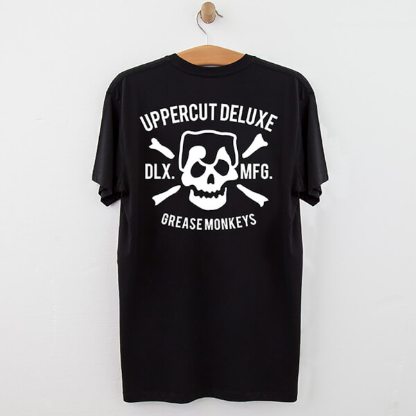 Uppercut Grease Monkey Lives T-Shirt - Black/White Print