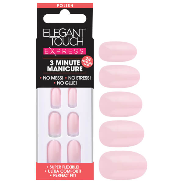 Elegant Touch Express Polish Nails - Pastel Pink
