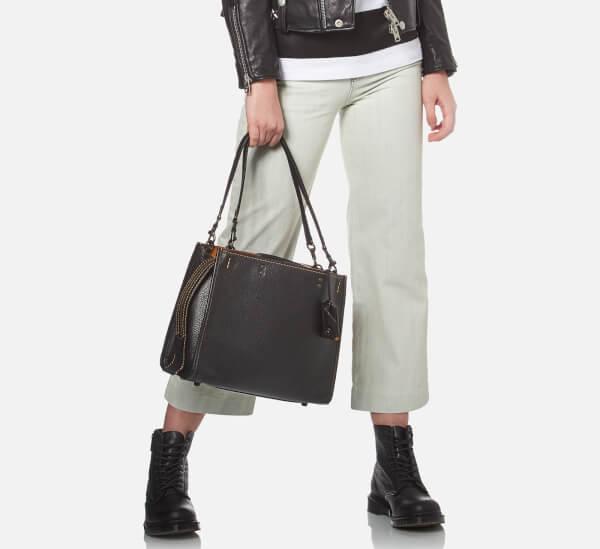 fd6cc3883d4 Coach 1941 Women s Glovetanned Pebble Leather Rogue Bag - Black  Image 2