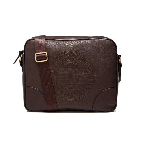 Ted Baker Men's Donboss Embossed Messenger Bag - Chocolate: Image 1