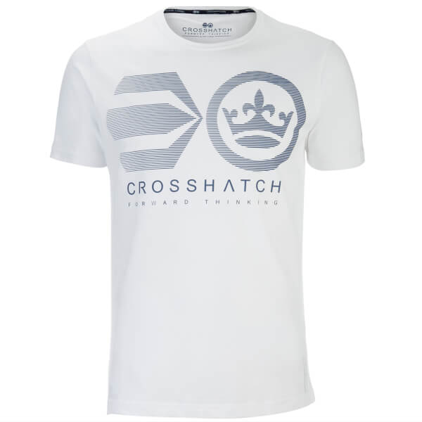 Crosshatch Men's Briscoe Logo T-Shirt - White