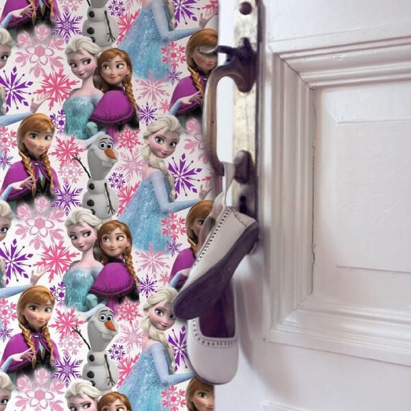 Disney Frozen Anna Elsa Pink Shimmer Wallpaper
