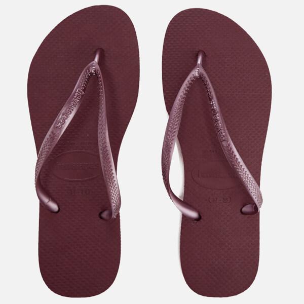 0fa3fe9556bb1 Havaianas Women s Slim Flip Flops - Grape Wine  Image 1