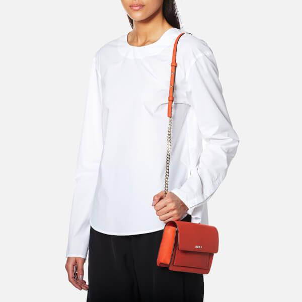 b3eb58ca1ca DKNY Women s Bryant Park Mini Flap Cross Body Bag - Orange  Image 2