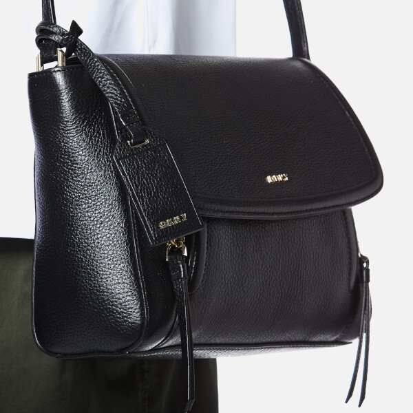 63181512cc DKNY Women s Chelsea Vintage Small Messenger Bag - Black  Image 3