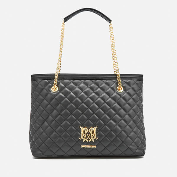 fa63003c6b8d Love Moschino Women s Quilted Large Shopper Tote Bag - Black  Image 1