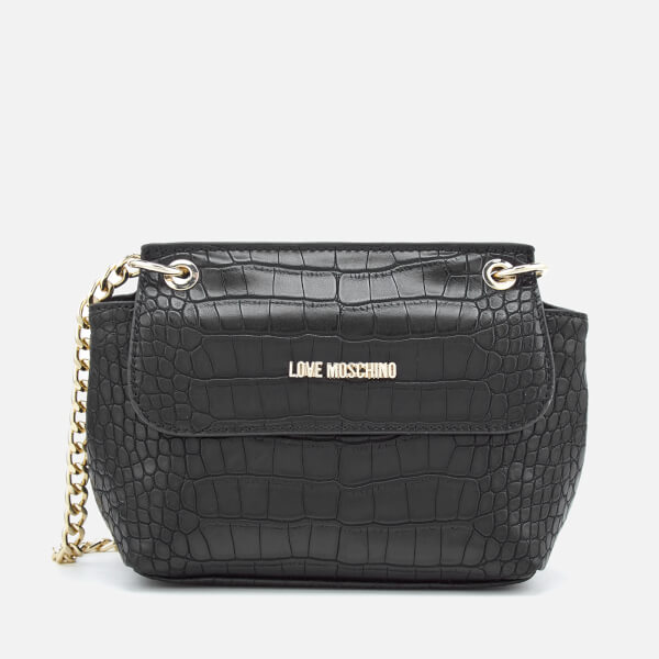 Love Moschino Women s Croc Small Cross Body Bag - Black Womens ... 7424feb16e2bd